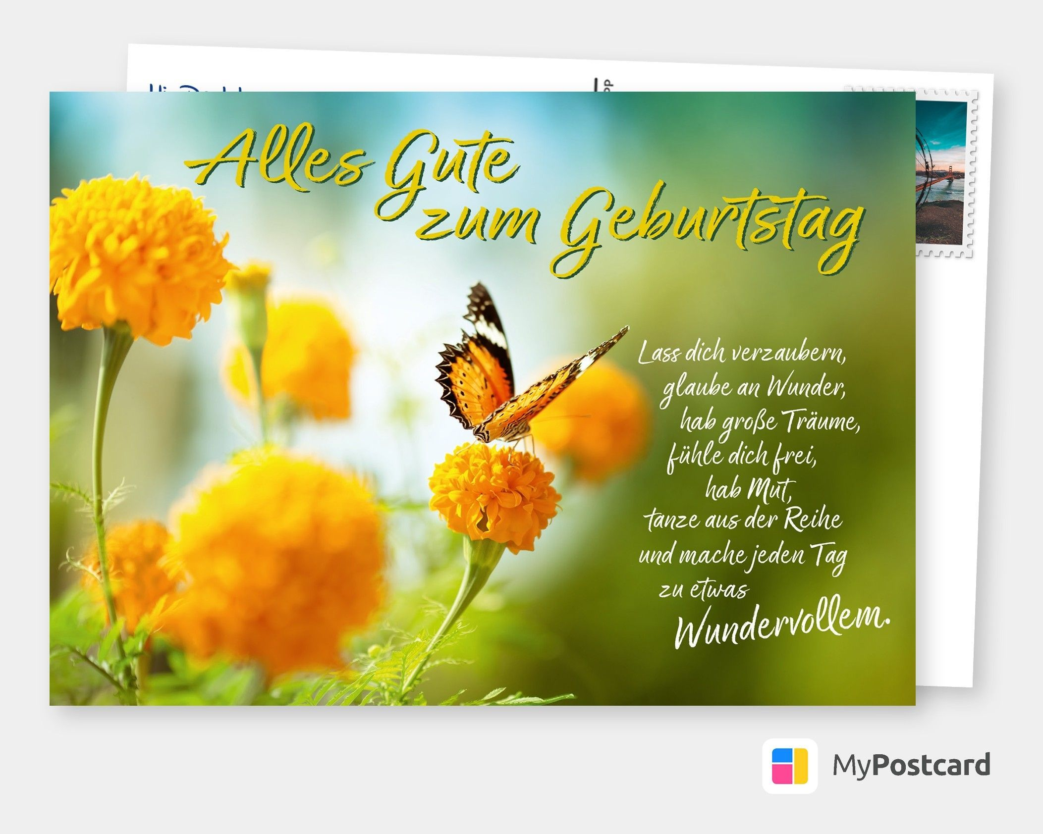 Geburtstagskarte - Geburtstagsgrüße / Geburtstagskarte