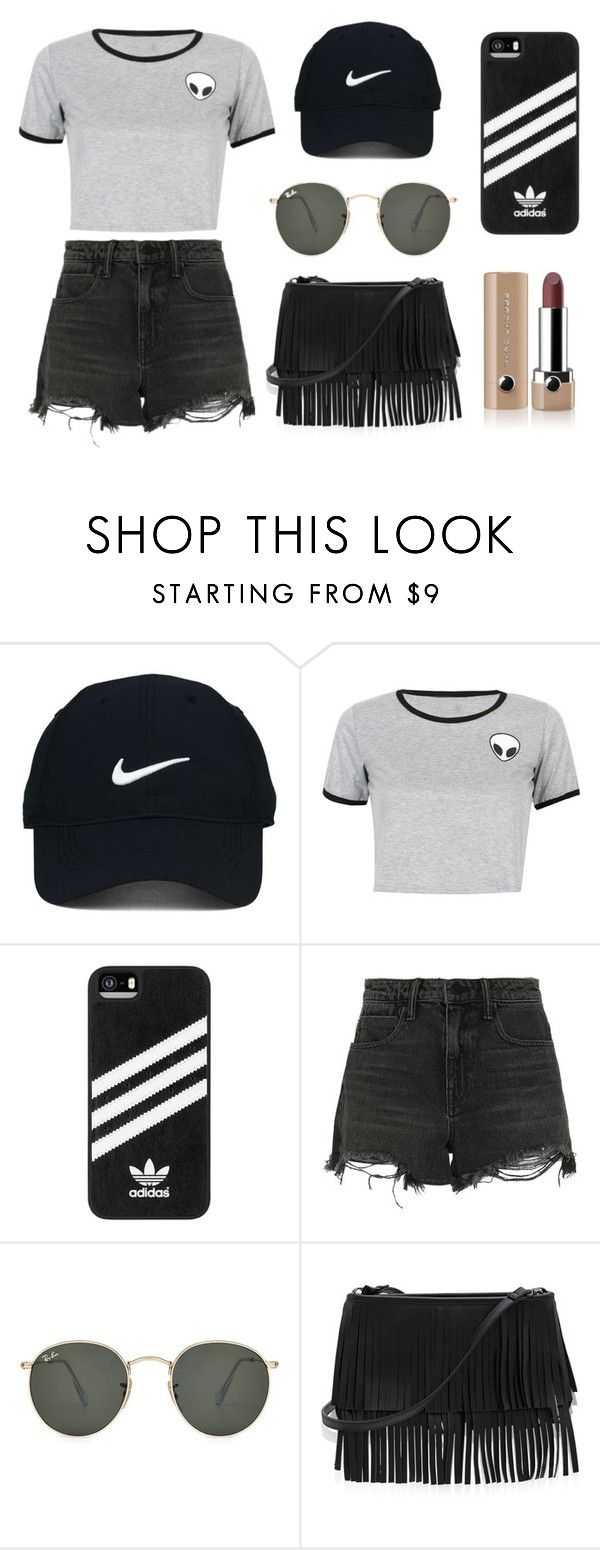 """""""It attracts x not attacks"""" by aokorie ❤ liked on Polyvore featuring Nike Golf, WithChic, adidas, Alexander Wang, Ray-Ban, White House Black Market and Marc Jacobs"""