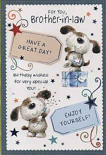 Birthday Cards Male Relation Brother In Law For You