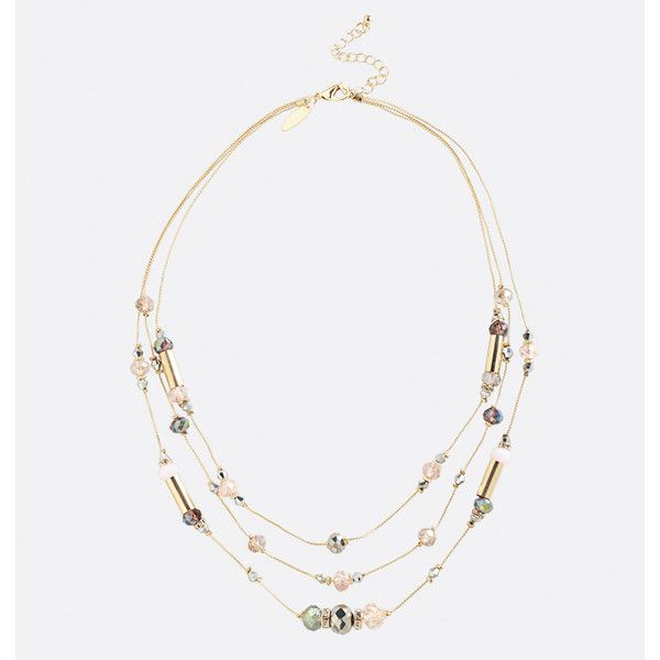Avenue Short Layered Blush Bead Necklace ($16) ❤ liked on Polyvore featuring jewelry, necklaces, light pink, plus size, beaded necklaces, multi layer necklace, avenue jewelry, layered jewelry and beading jewelry