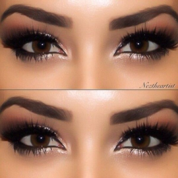 eye makeup for brown eyes by Nessa