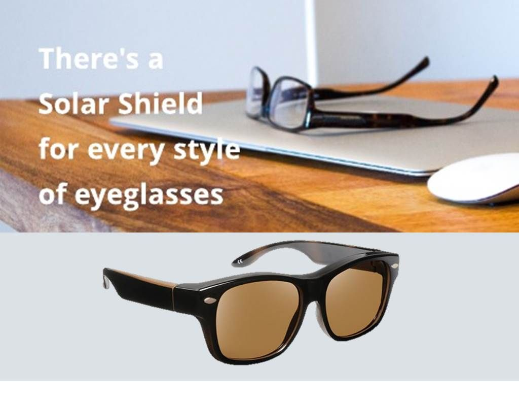 No Matter What Size Or Shape Eyeglasses You Have There S A Solar Shield That Fits Over Them Solar Shields Fit Over Sunglasses Sunglasses Uv Protection