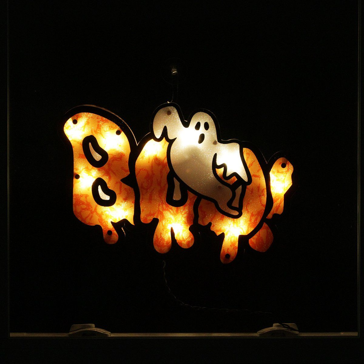 "16"" Lighted ""Boo"" Sign with Ghost Halloween"