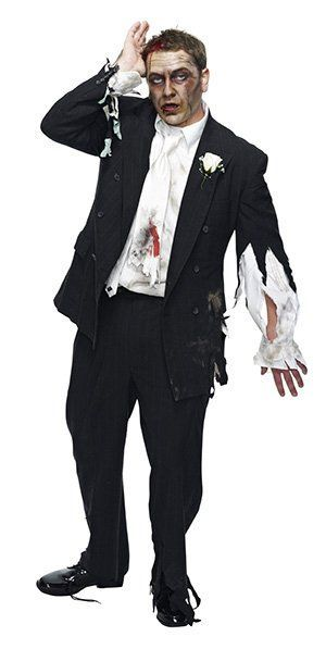 Face makeup for zombies pinterest zombie prom and plants vs zombies do it yourself zombie groom costume idea find a thrifted suit and makeup kit at your local savers thrift store to complete the look solutioingenieria Image collections