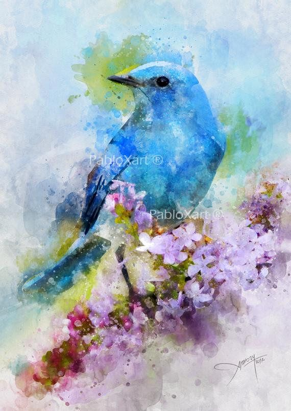 Bird Print Digital Download Printable Art Wall Decor Print Modern