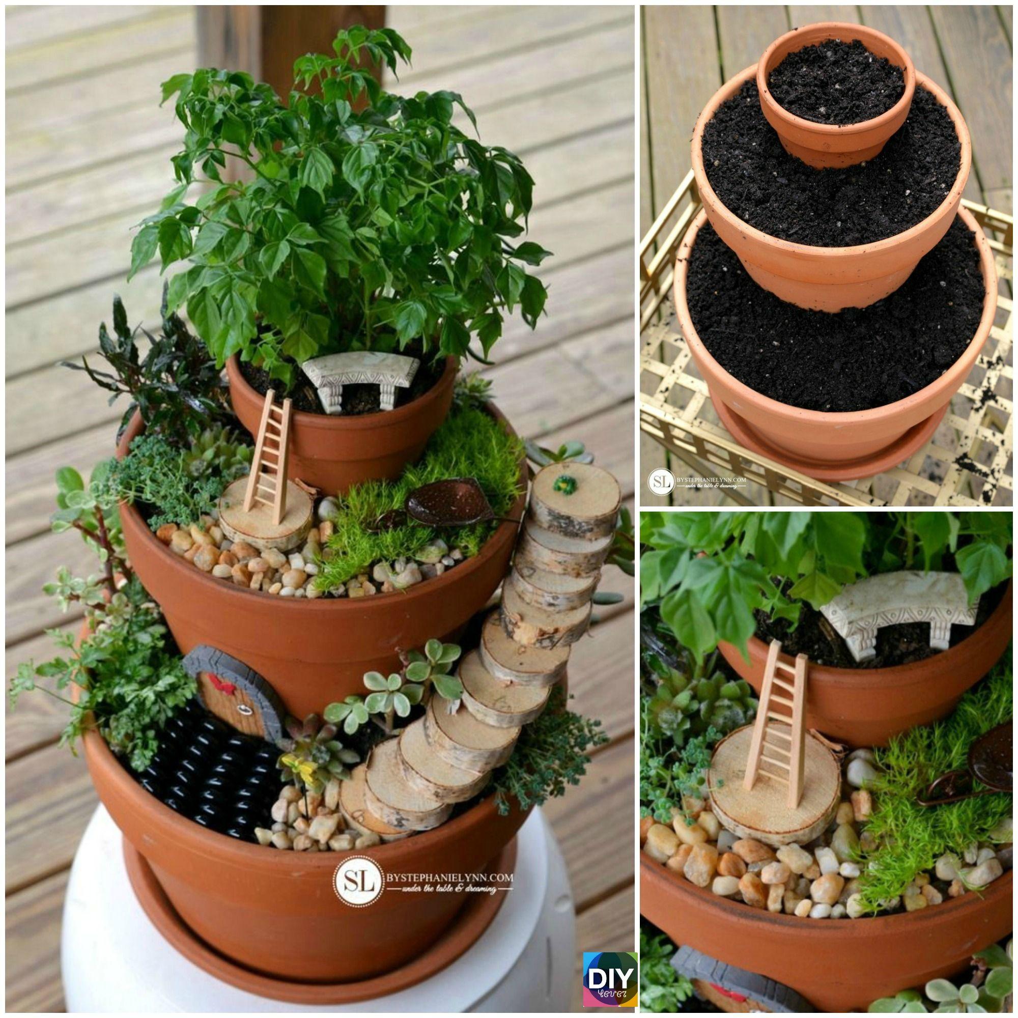 DIY Flower Pot Fairy Garden – Step by Step Tutorial