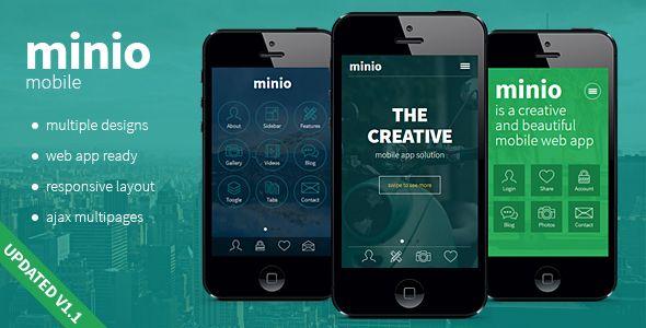Minio Mobile Minio Mobile is a mobile HTML/CSS template that