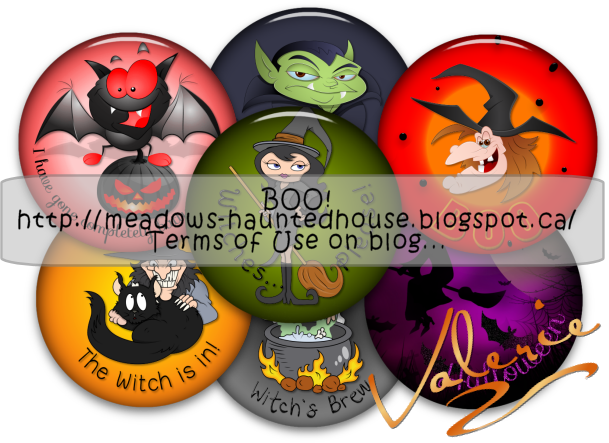 Meadows Haunted House: Halloween Buttons 2015 Ready for Download for Digital Scrapbooking...