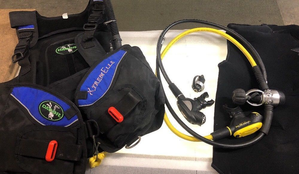 Dacor Scuba Gear Dive Equipment Set Size M L Diving Equipment Scuba Gear Dacor