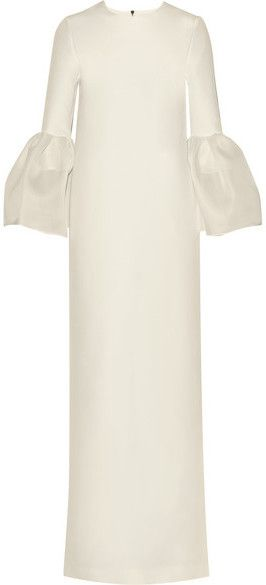 Roksanda - Dubois Silk And Cotton-blend Gown - Ivory