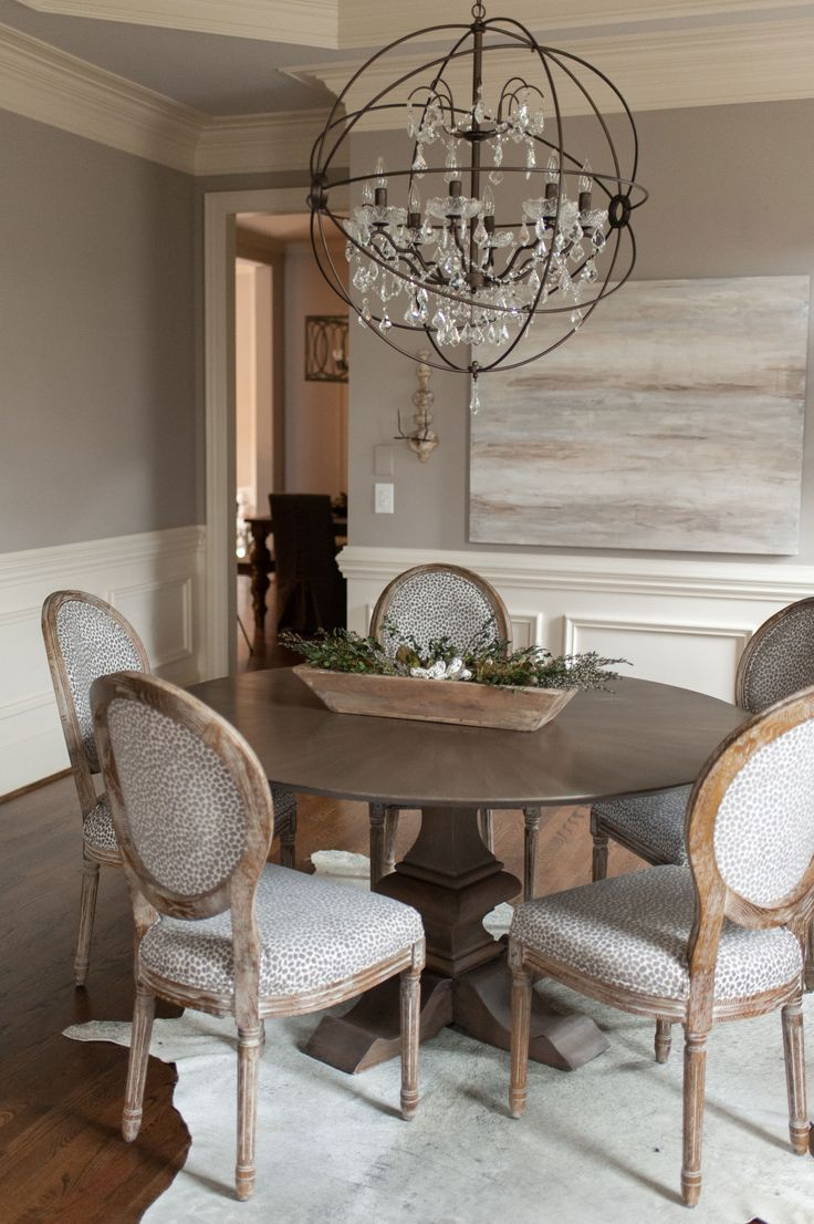 Romantic Dining Room: This Gorgeous Romantic Transitional Dining Room Is The