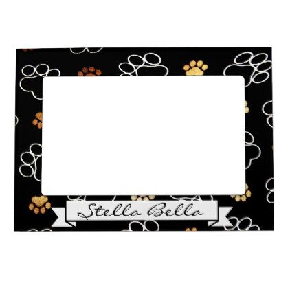 Paw Print Black Dog Cat Pet Picture Frame Name   Pet pictures, Dog ...