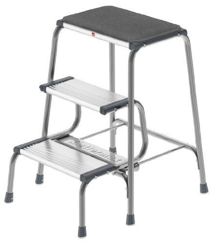 Hailo 4353001 Retro Step Silver Click Image To Review More Details Folding Step Stool Step Stool Home Depot Adirondack Chairs
