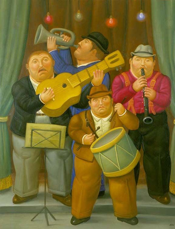 Los Musicos Ideas Para Tienda Icons Music Fernando Botero