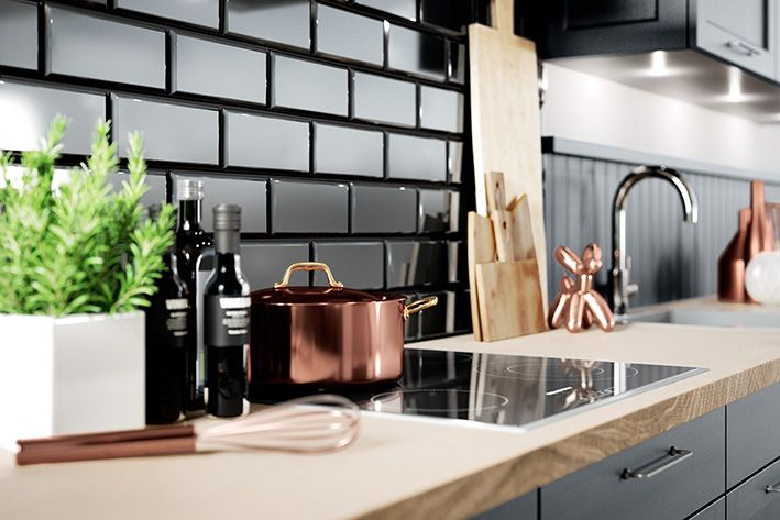 BRISTOL Samtblau/ Produktlinie classic #häckerküchen #häcker #küchen - küche landhaus weiß