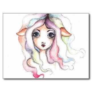 Elf/Fawn Girl Postcard