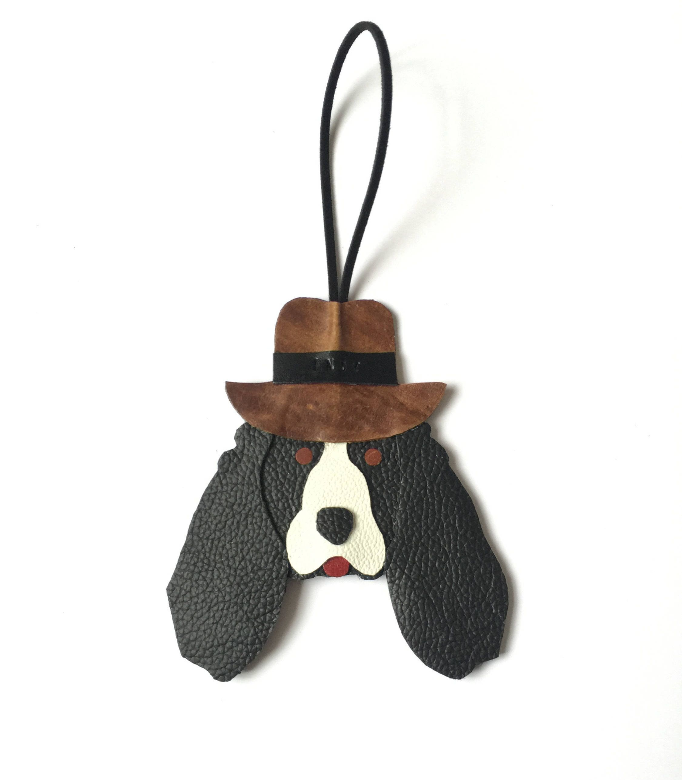 Springer Spaniel Ornament Personalised Leather Fedora Hat