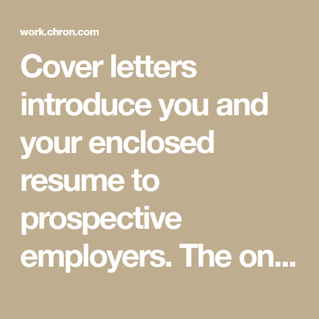 A Cover Letter For A Job Interesting How To Write A Cover Letter For An Unadvertised Job  Job Description