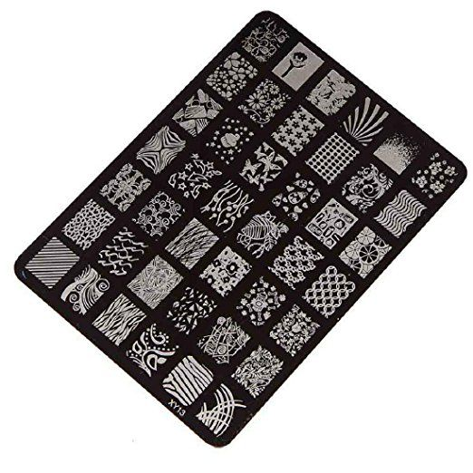 Amlaiworld Nail Stamping Printing Plate Manicure Nail Art Decor Image Stamps Plate