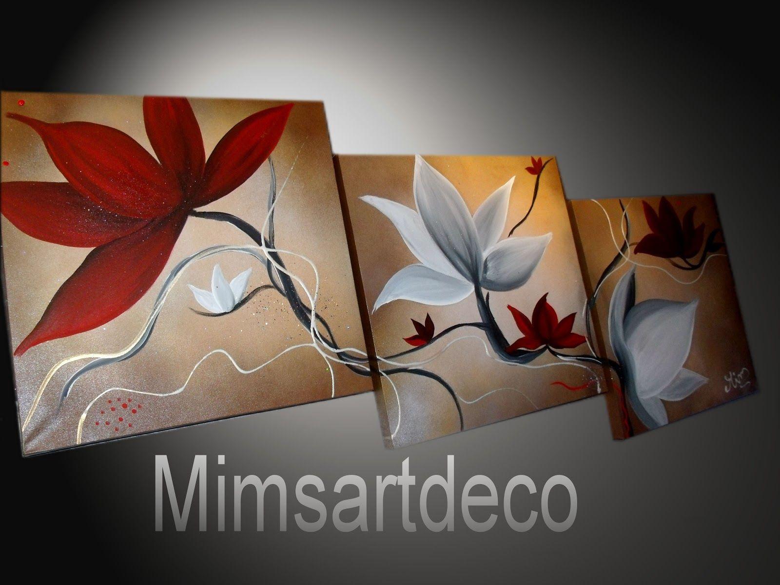 Pinterest peindre des fleurs peinture fleur rouge for Decoration murale 974