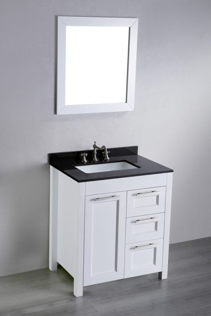 27 Inch White Bathroom Vanity