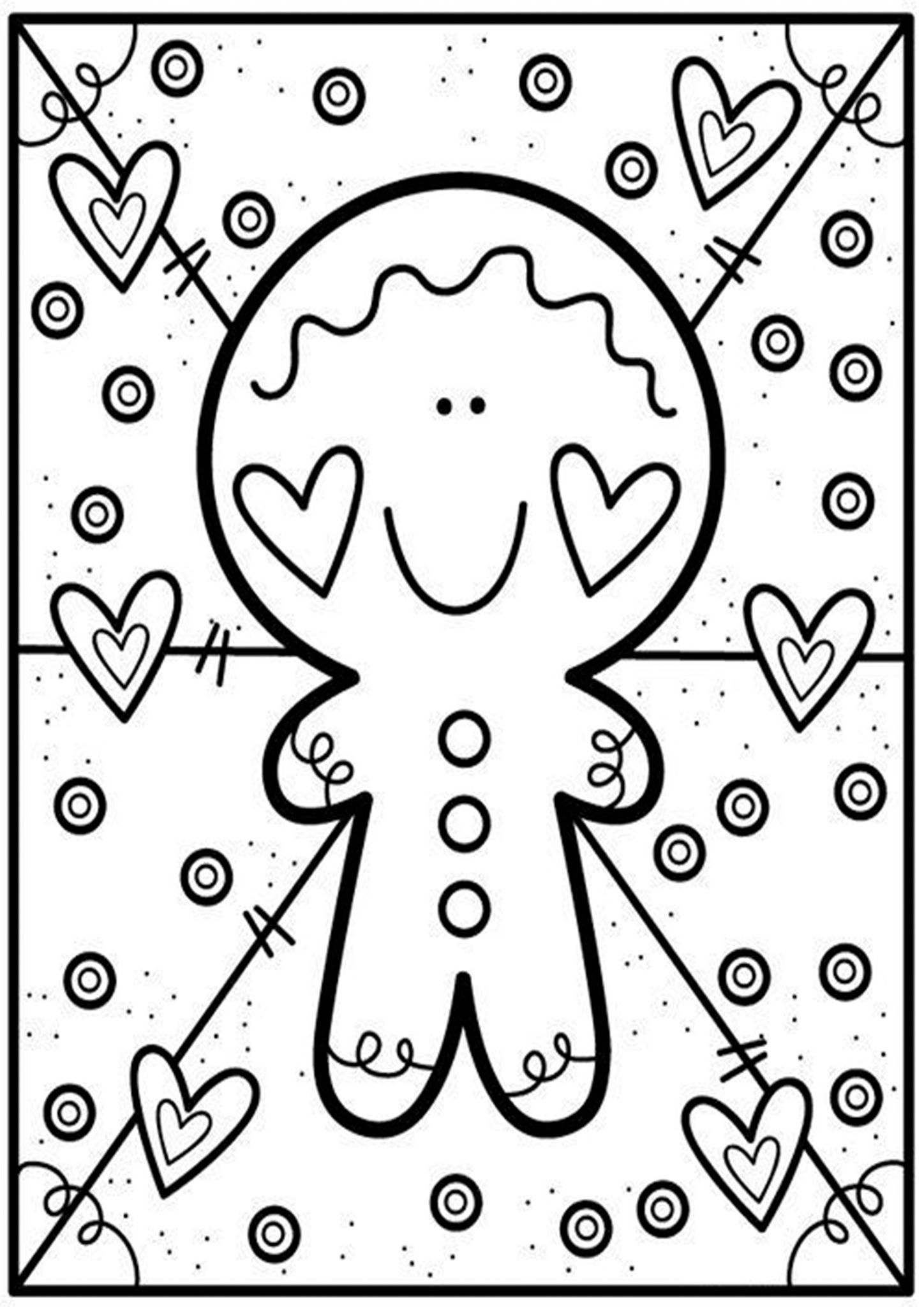 Free Easy To Print Cute Coloring Pages Christmas Coloring Pages Cute Coloring Pages Christmas Coloring Sheets [ 2048 x 1448 Pixel ]