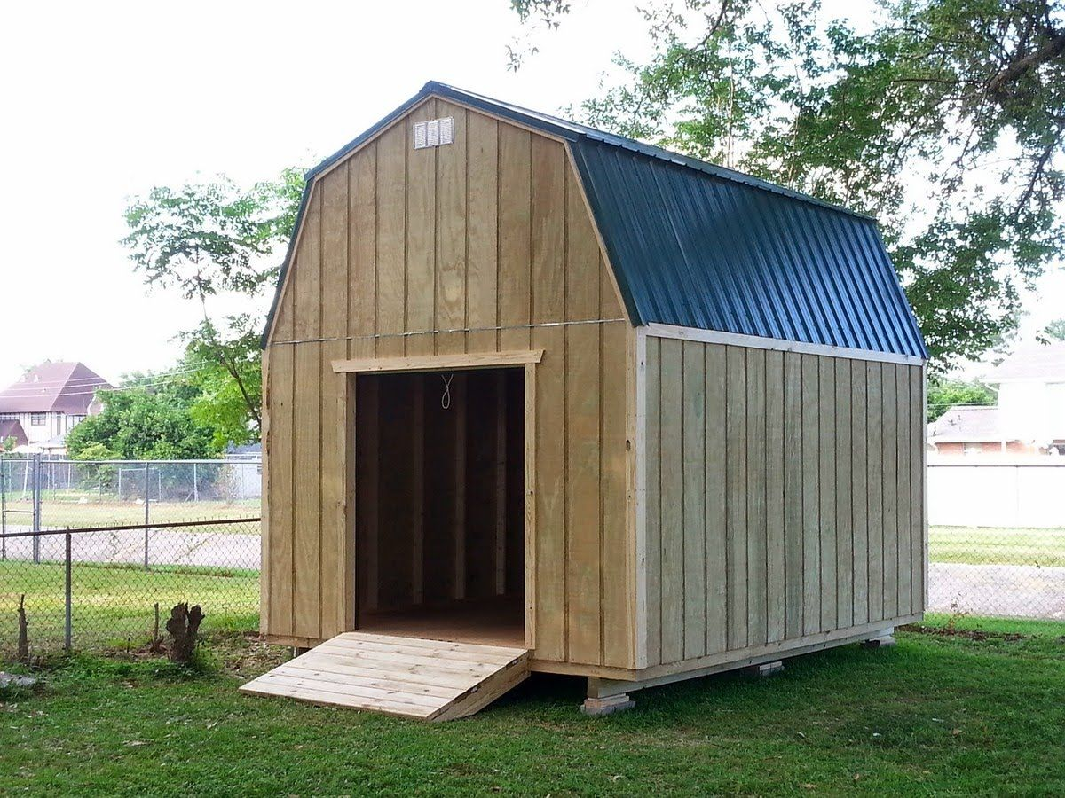 12x16 Barngambrel Shed 2 Shed Plans Stout Sheds Llc Barn Style Shed Shed Plans 12x16 Shed