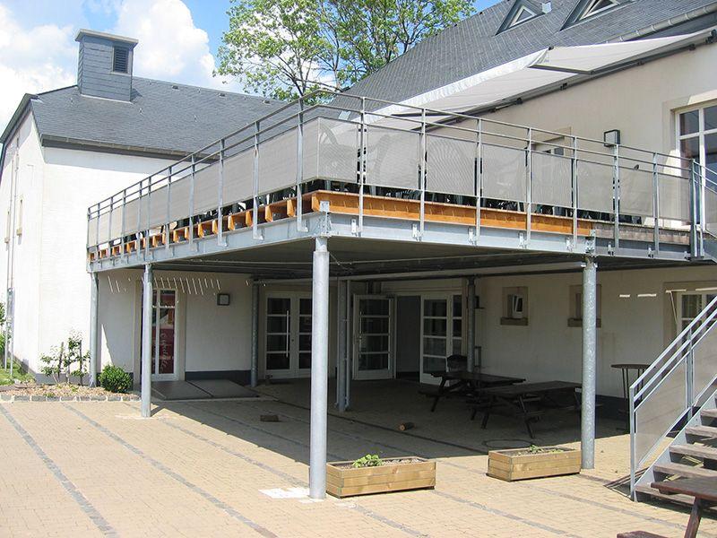 Ateliers Thines Baustert - Terrasses structure métallique (Asselborn - plan maison structure metallique