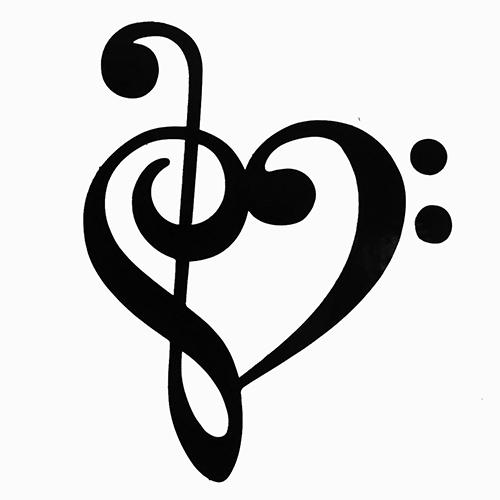 Music Notes Heart Google Search Tattoos De Notas Musicais Desenho De Letras A Mao Clave De Sol