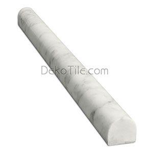 Decorative Bullnose Tile Trim Unique Italian White Carrara Marble Honed Bullnose Trim  Deko Tile Review