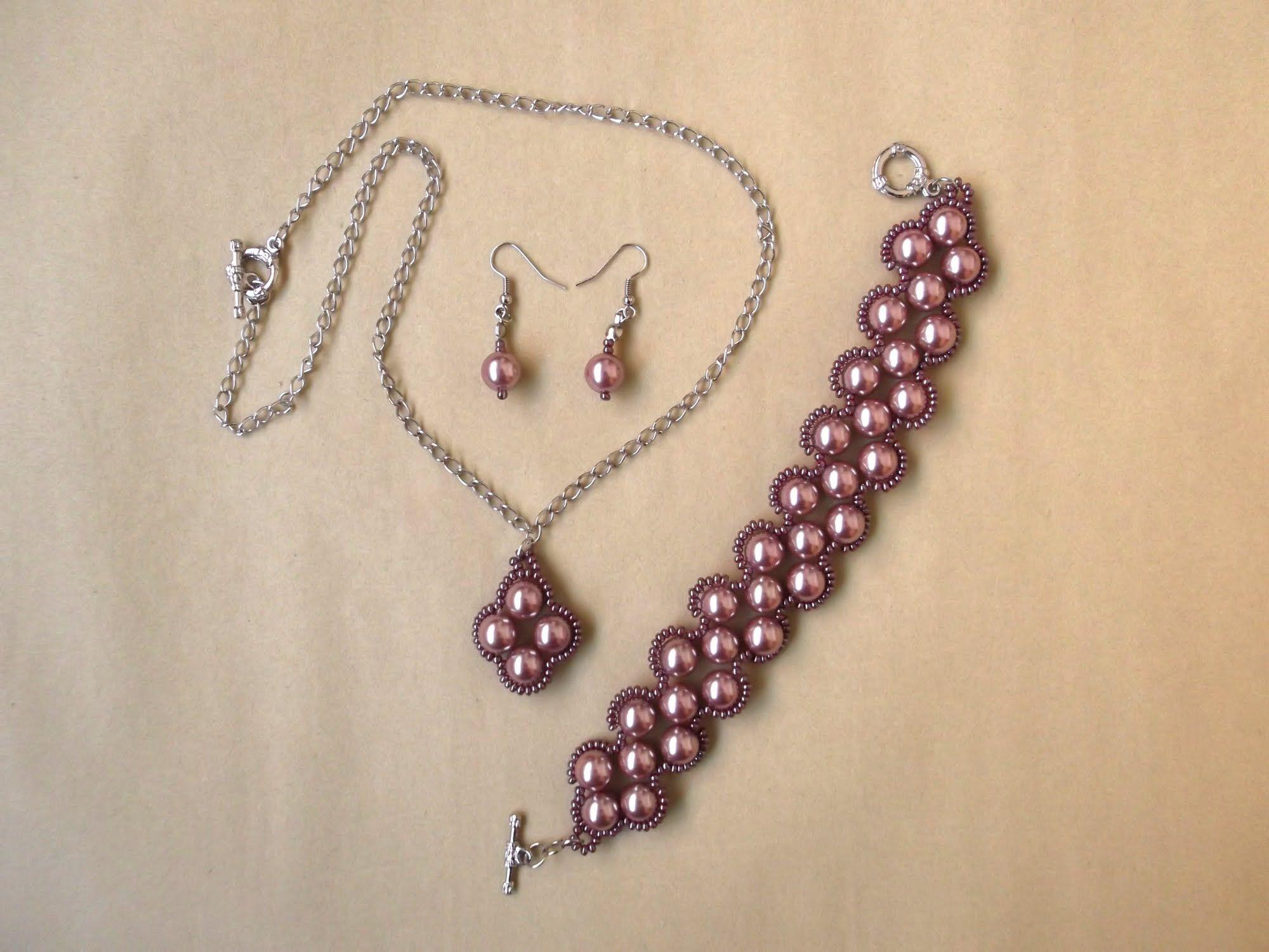 25f714e43f7 Aprenda a fazer Bijuterias 01 de 03 - Bracelete - Conjunto Uva ...