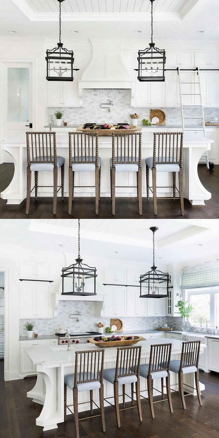 outstanding designer kitchens inspired exquisite | Lantern pendants, custom molding, and complementary ...