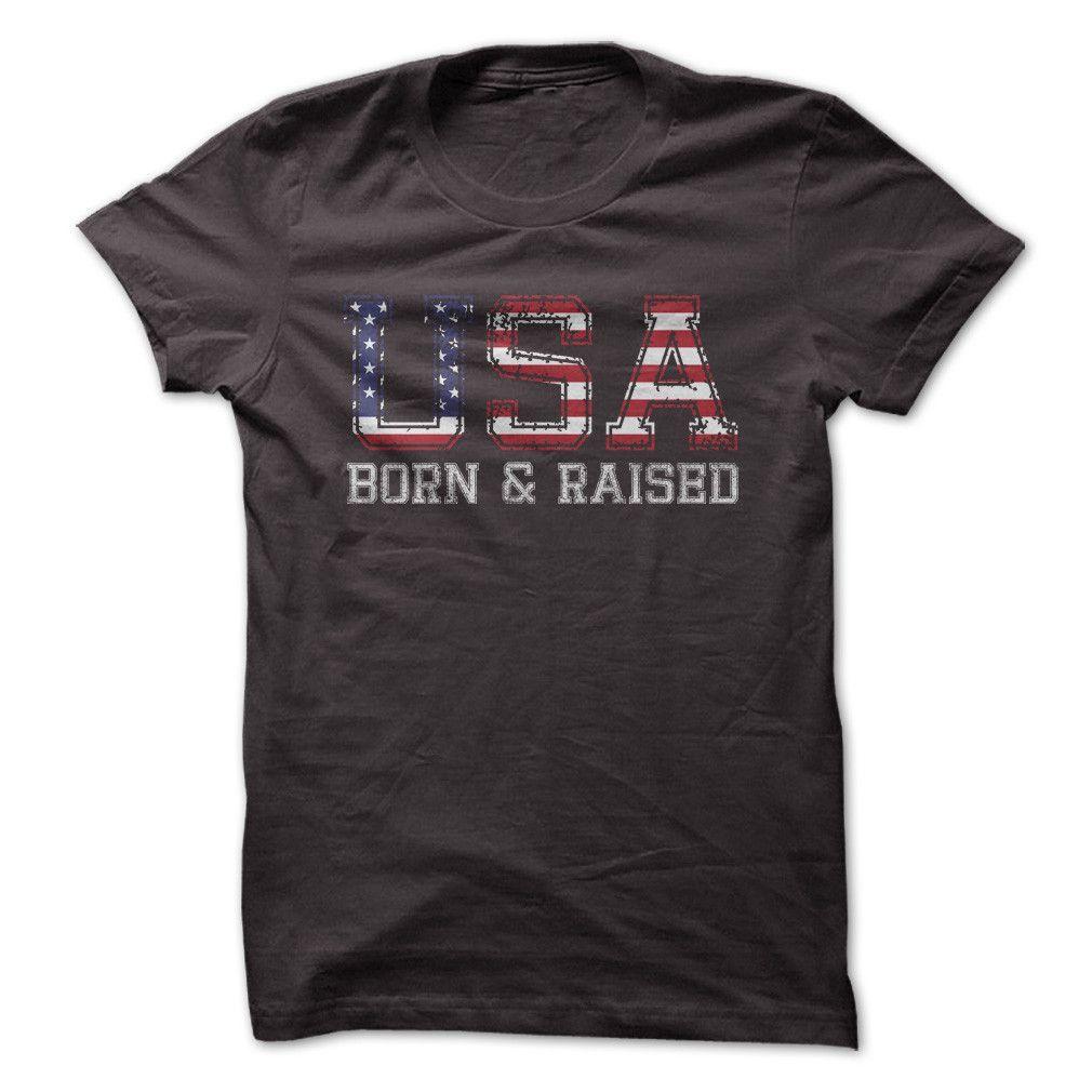 ac1affab U.S.A. Born and Raised - T Shirt | Land of the Free | Engineer shirt ...