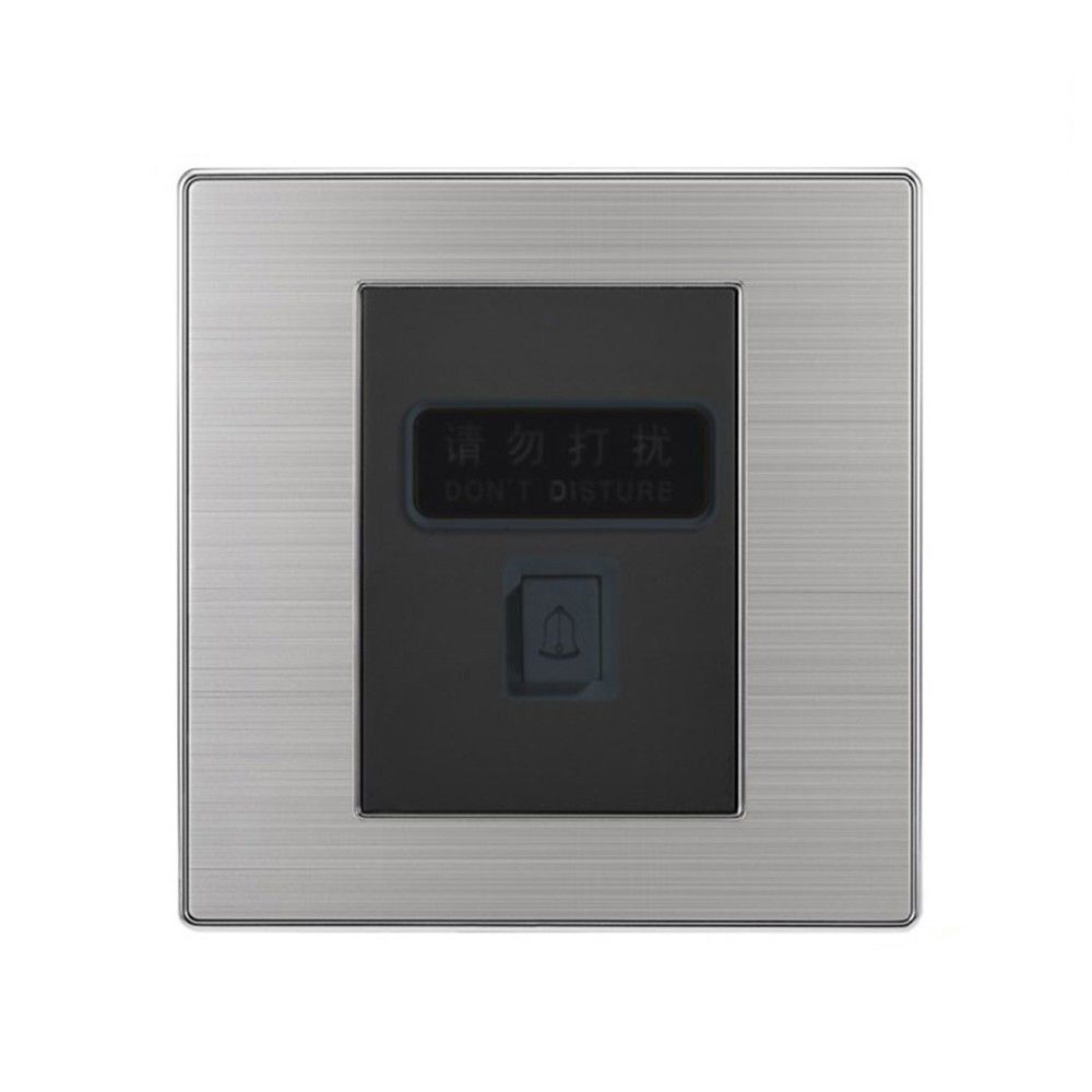 Luxury Doorbell Switch Push Button Wall Switch Don T Disturb Bell Interruptor Brushed Silver Panel Power Conmutador Brushed Silver Doorbell Dont Disturb