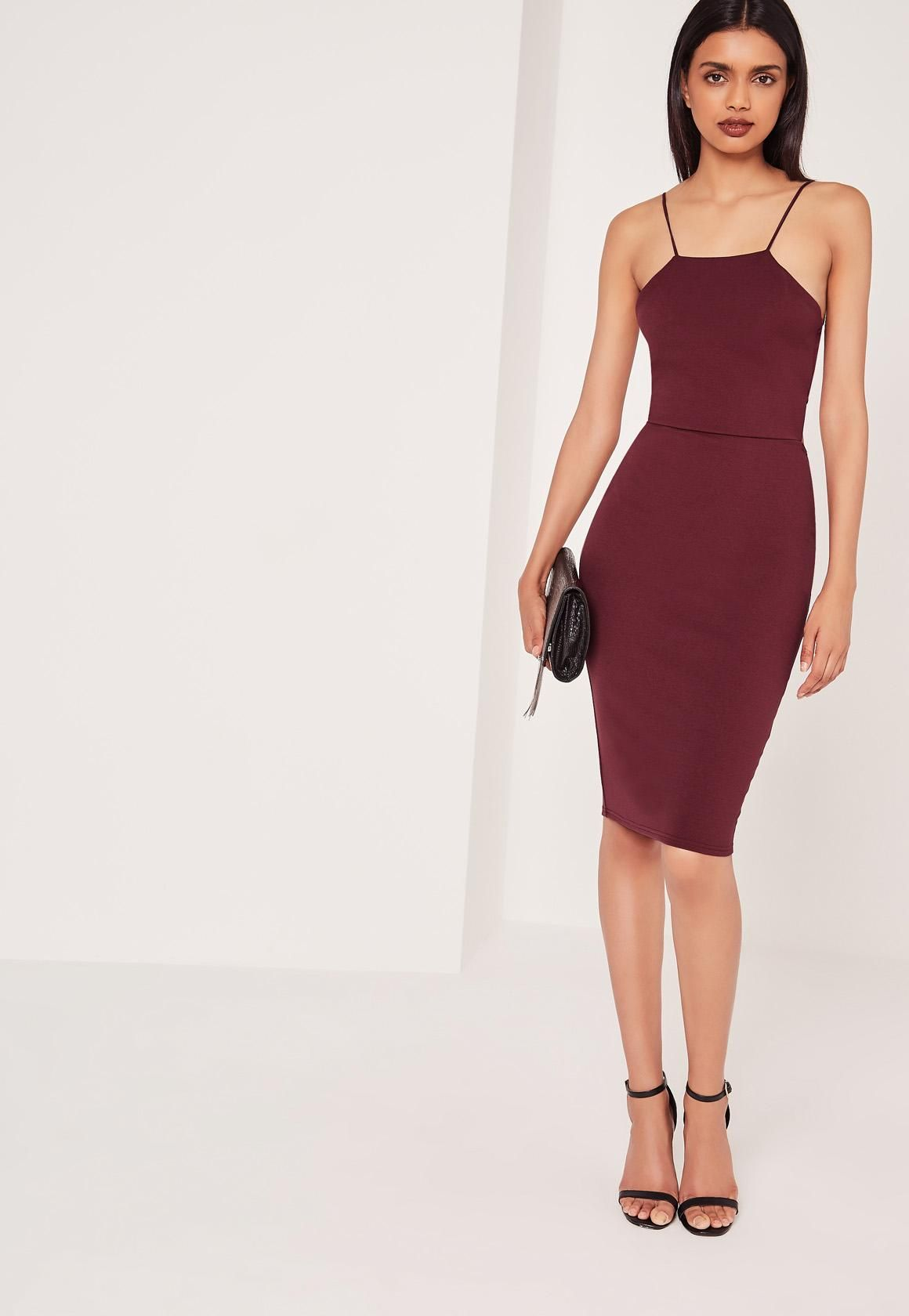 48564946 We all love a cheeky cut-out and this LBD (little burgundy dress) is a sure  fire way to slay this weekend. Featuring a sophisticated midi length, ...