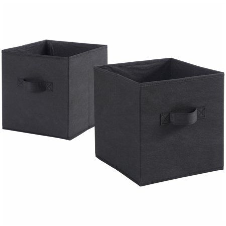 Mainstays Collapsible Fabric Cube Storage Bins 10 5 X 10 5 Set Of 2 8 Inside Nightstands Cube Storage Bins Cube Storage Storage Bins