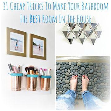 31 cheap tricks to improve your bathroom - diy scoop