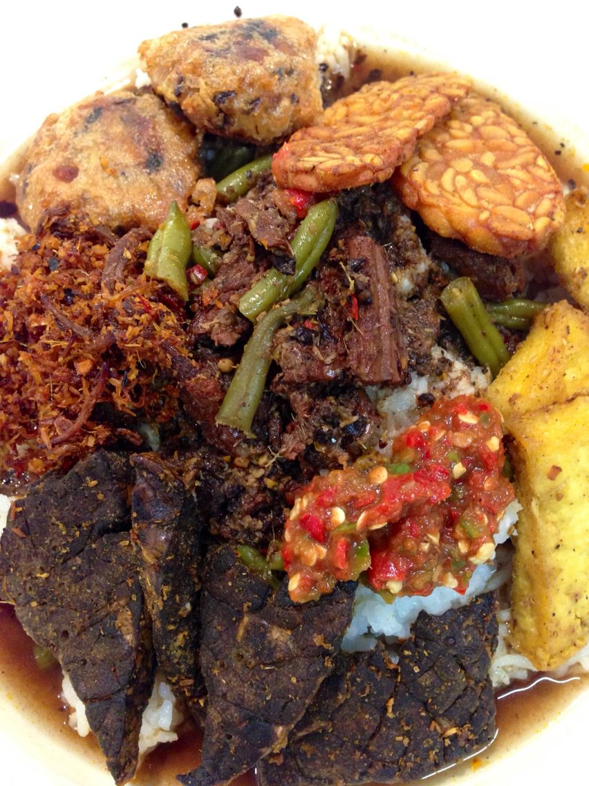 Home Made Nasi Rawon An Indonesian Style Beef Stew With Buah Keluak Or Black