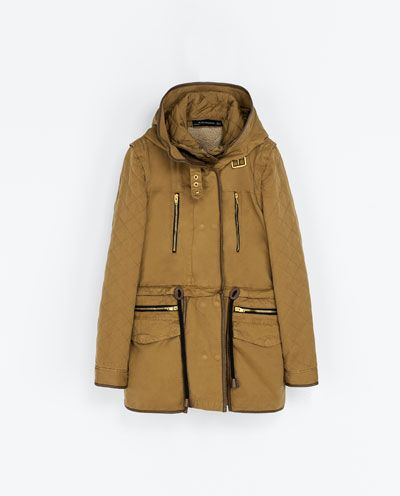 ZARA - WOMAN - HOODED PARKA WITH DETACHABLE LINING