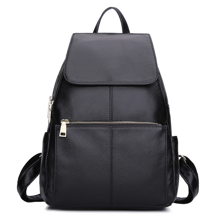 (114.49$)  Buy here  - backpack foreign trade head layer ladies   Bag Black leather  , wind agent FREE SHIPPING