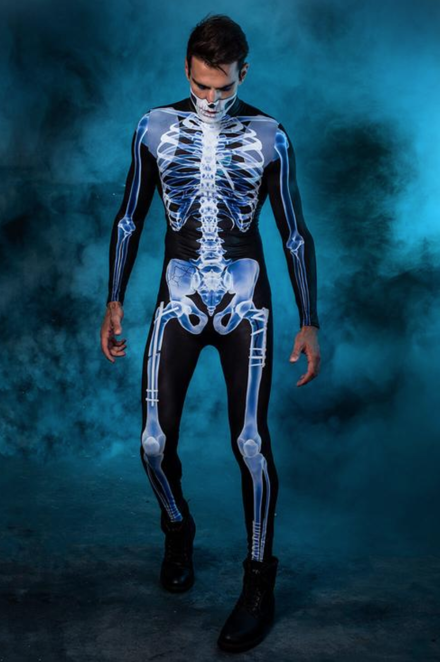 Men's XRay Skeleton Costume in 2020 Halloween bodysuit