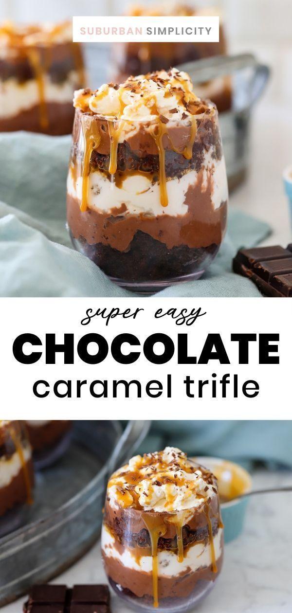 Chocolate Caramel Trifle - Suburban Simplicity