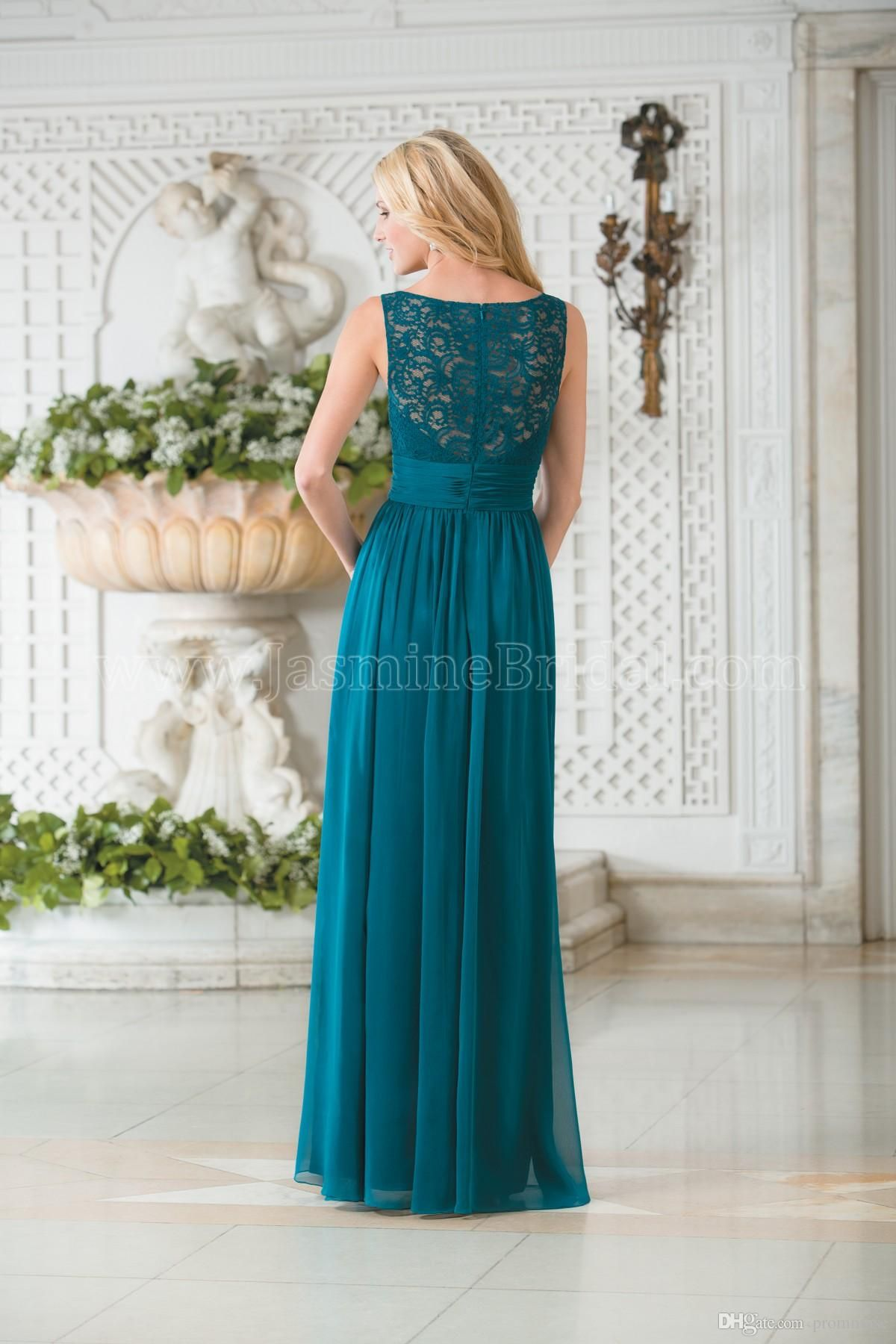 Cheap Teal Blue Jasmine 2017 New Arrival Beautiful Bridesmaid ...