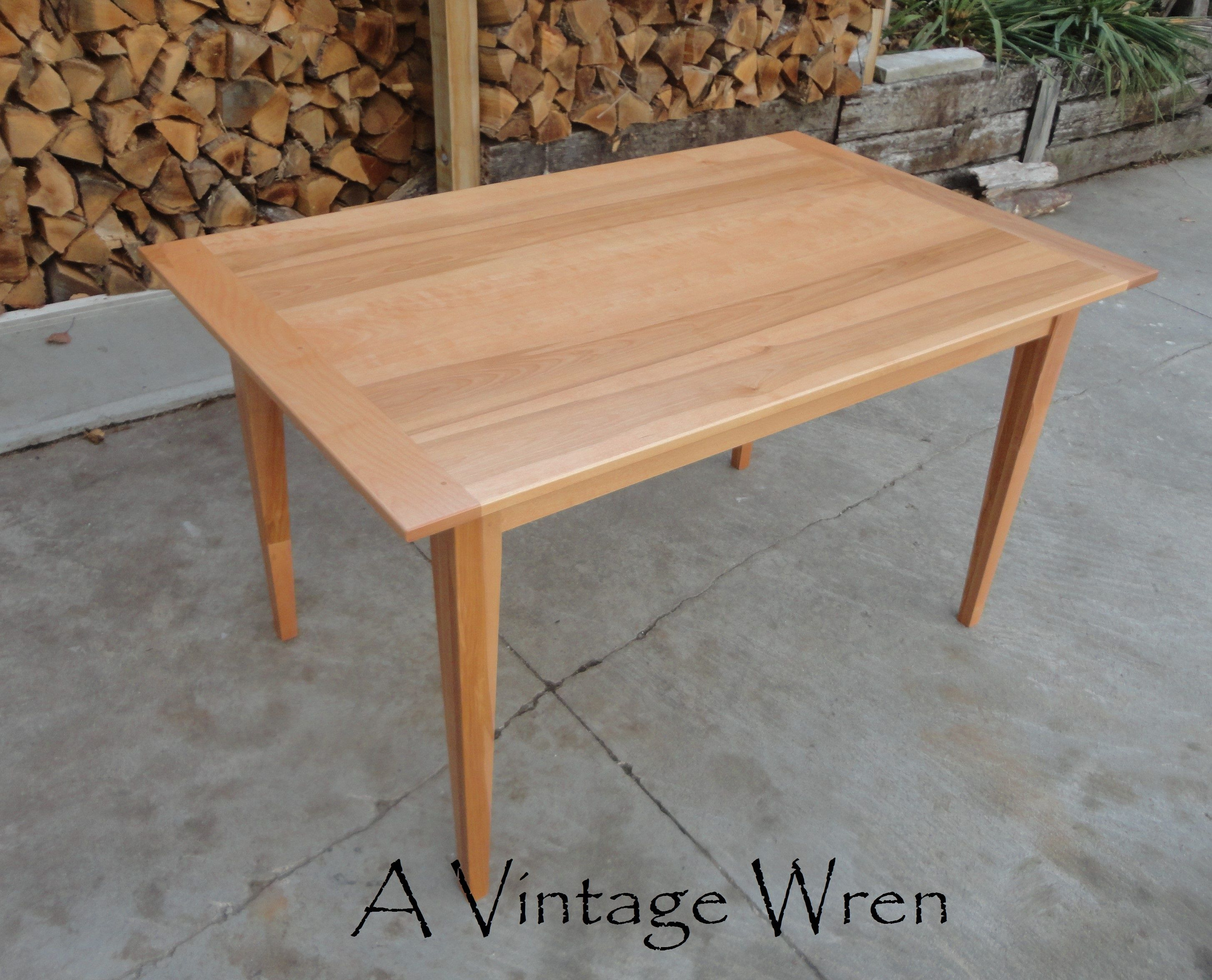 Custom Built Farm Table Made In New Hampshire Https Www Facebook Com Avintagewren A Solid Birch Farm Table Shaker Style Furniture Dining Table Farm Table