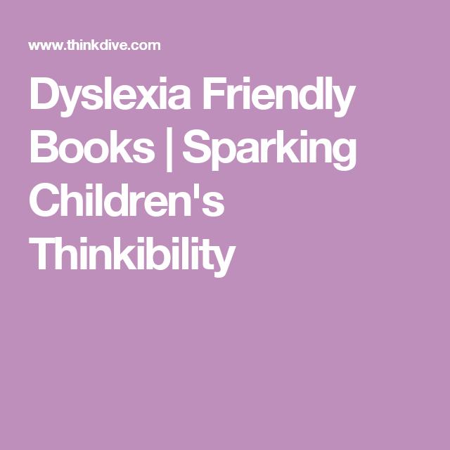 Dyslexia Friendly Books For Children