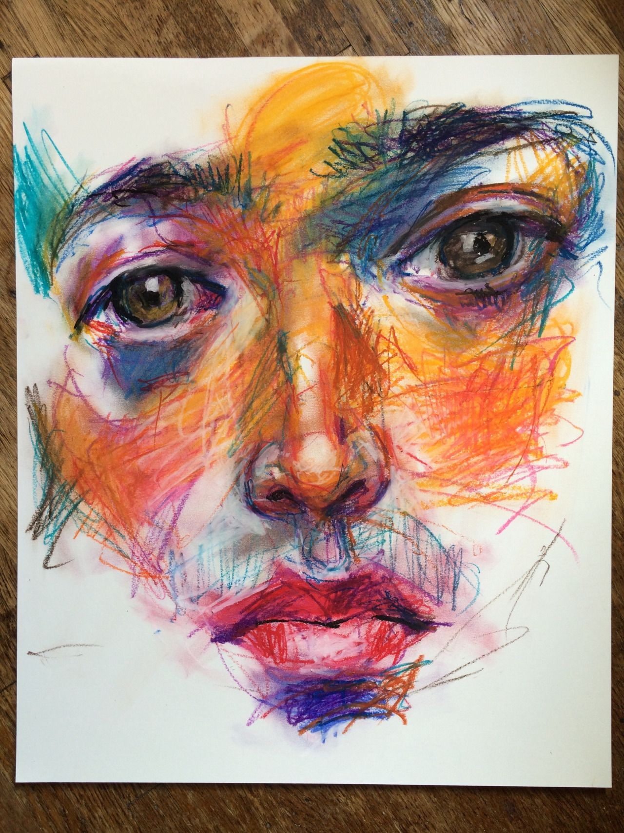 Messing w oil pastels