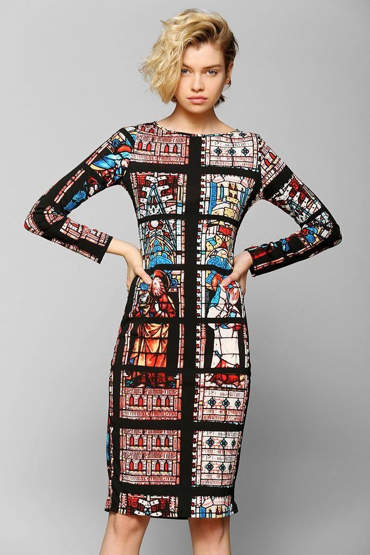 7e96da5f199 Glamorous Stained Glass Midi Dress  urbanoutfitters
