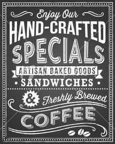 restaurant chalkboard fonts - Google Search | The Market Design ...