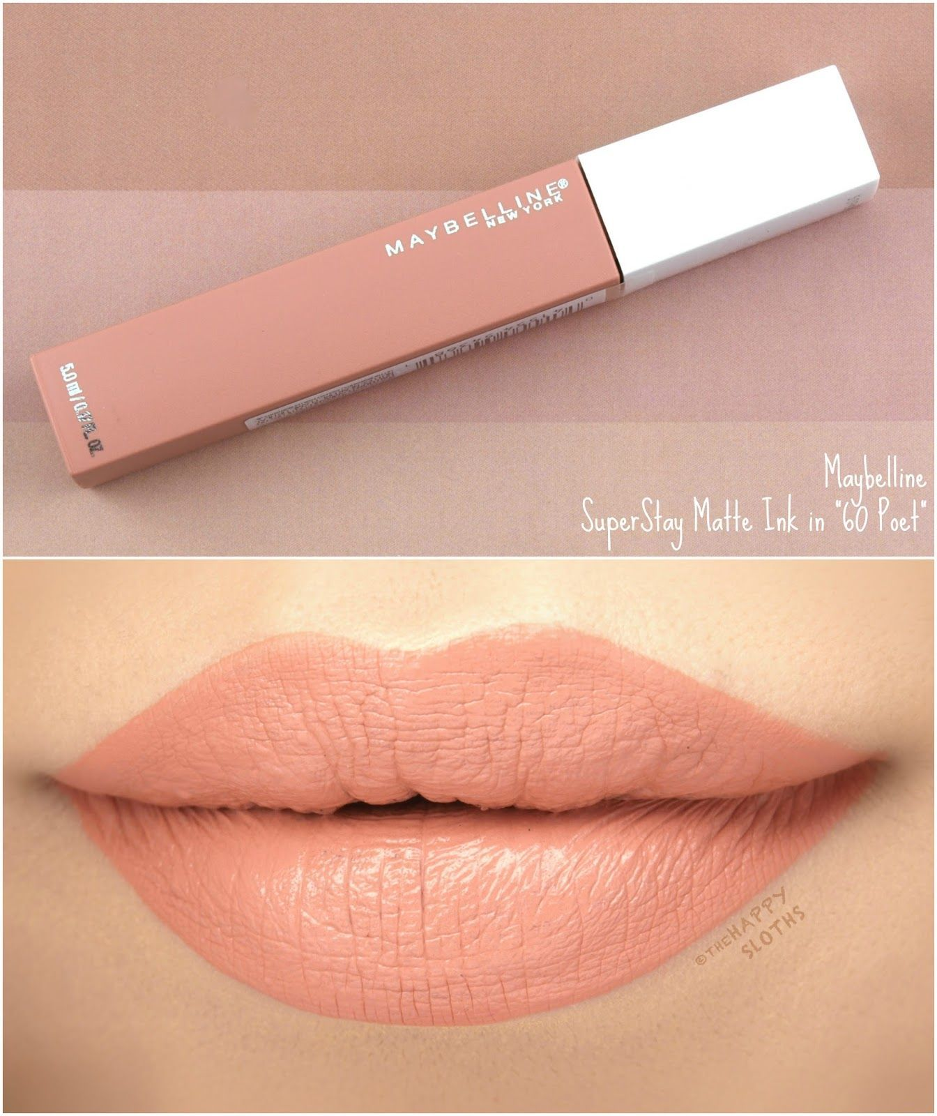 Maybelline Superstay Matte Ink 60 Poet Review And Swatches
