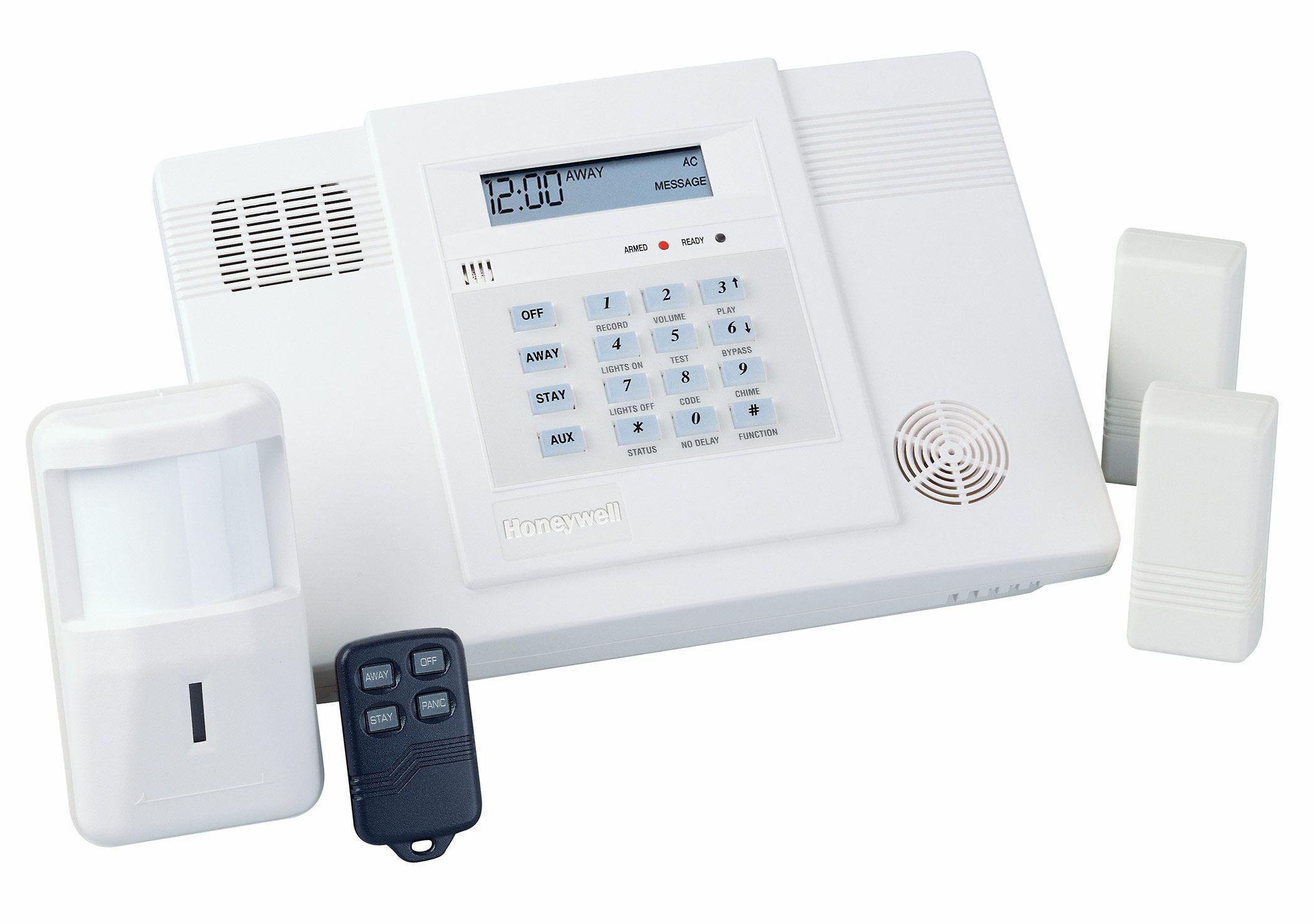 Honeywells L3000 control panel, 2 window/door contacts